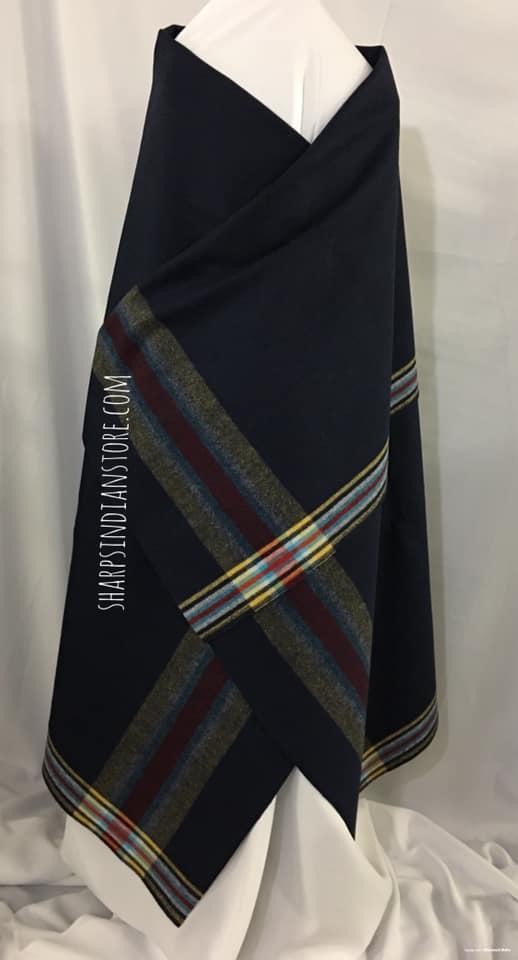 Navy Teton Trade Cloth Blanket